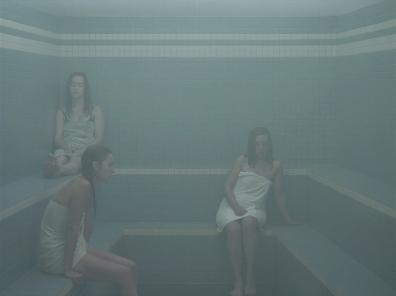 Olivia Boudreau: The Steam Room (2011). HD sequence, colour, sound, 20 minutes. 