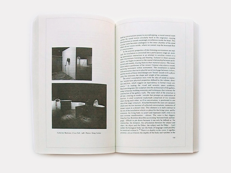 Inside spreads of Sound by Artists, 2013 edition
