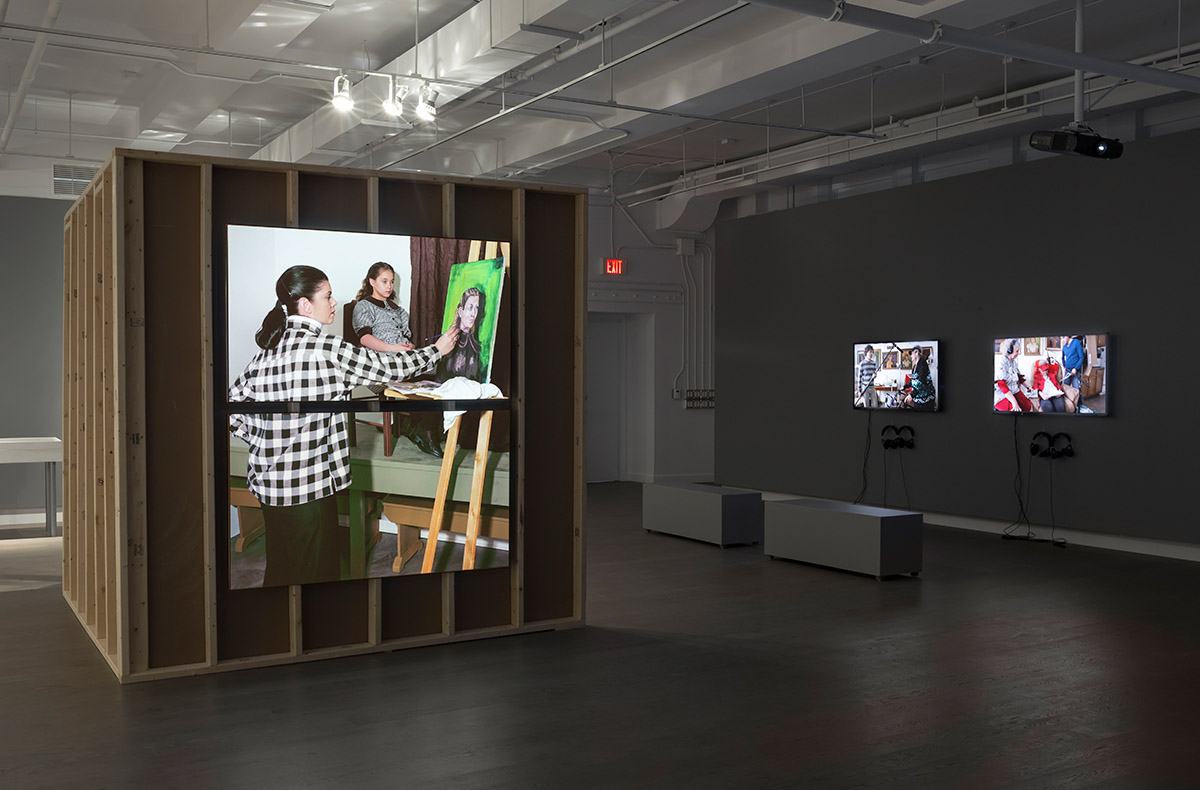 Adad Hannah: Installation view of Three Generations (Kodiak Camera Club, 1953) at the Koffler Centre of the Arts, 2014. Images courtesy the artist and the Koffler Centre, Toronto.