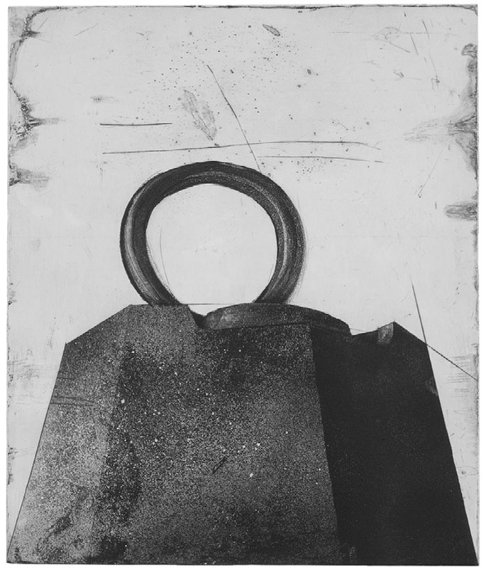 Devorah Boxer: Dix kilos IV (Ten Kilos IV), 1995. Etching, aquatint, and dry point on copper.