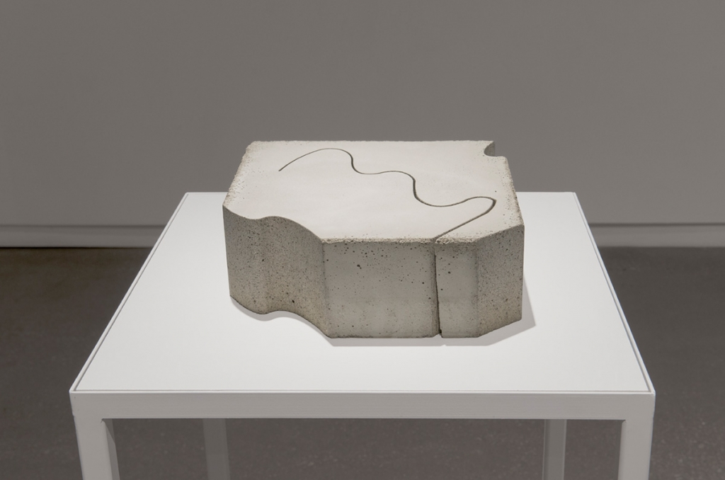Jennifer Rose Sciarrino: North Facing on December 21st II (2013). Concrete.