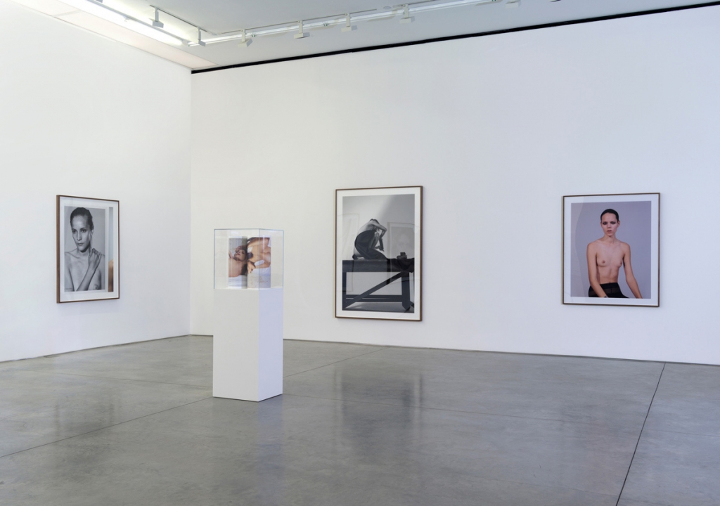 Collier Schorr: Installation view of 8 Women, 2014, at Gallery 303, New York.