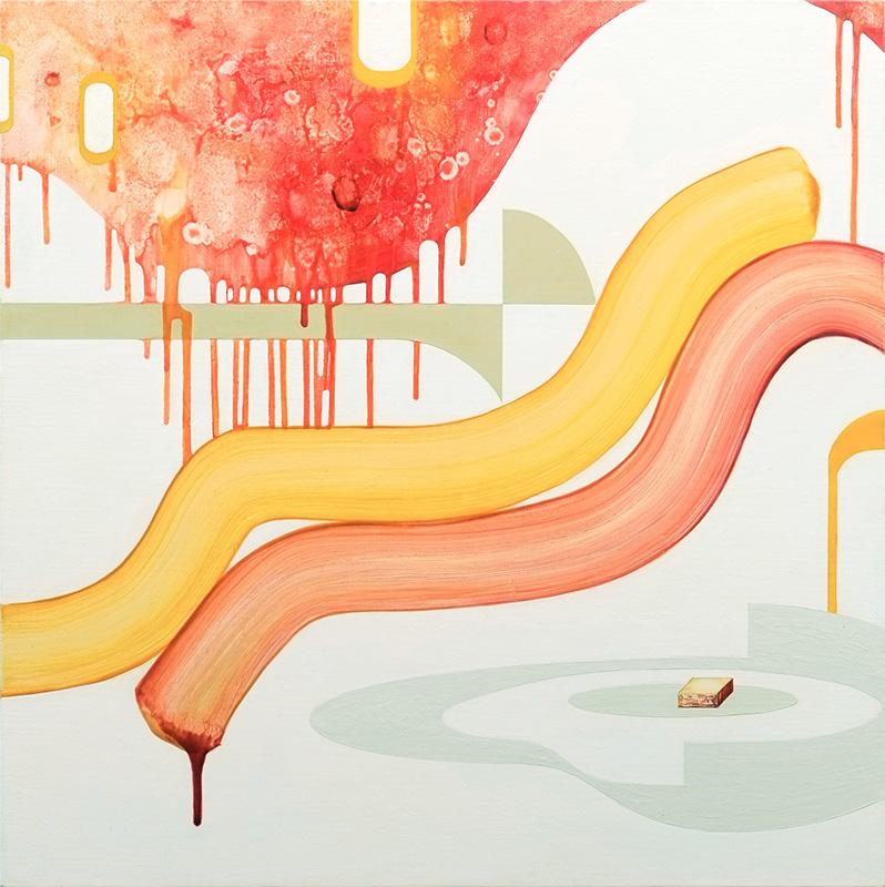 Mira Song: Scene #4 (2014). Oil on canvas, 61 x 61 cm