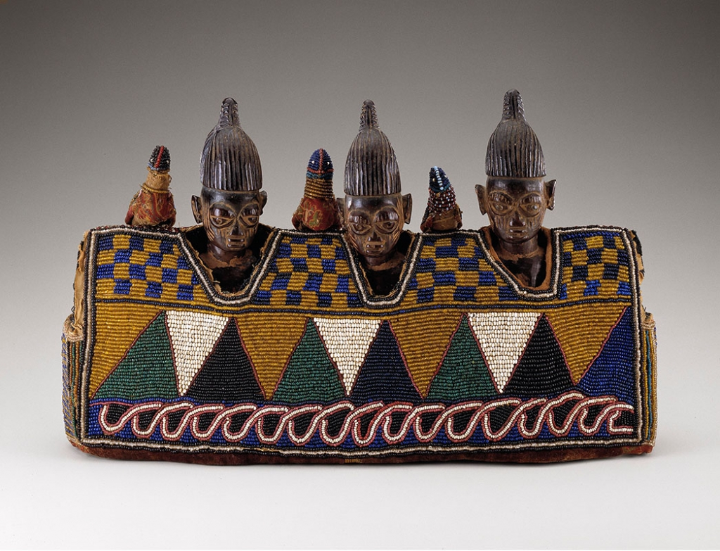 Female figures (ere ibeji). Yoruba peoples, Nigeria, early 20th century.