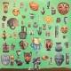 Joseph Tisiga: Untitled VI (2014). Paper collage, oil on canvas.