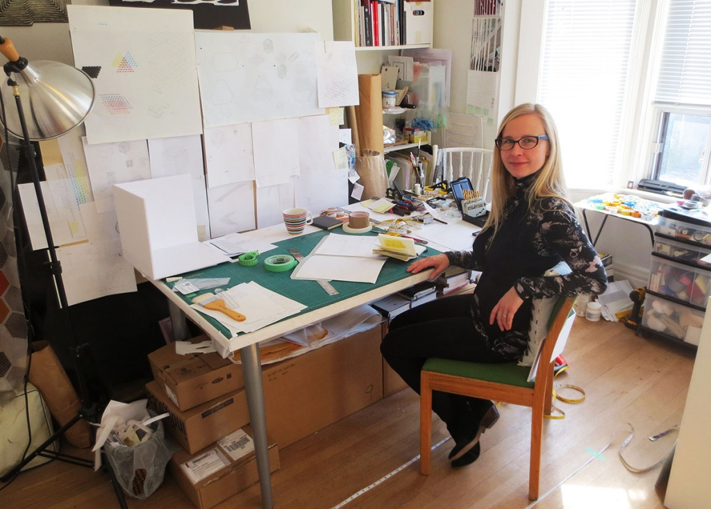 Toronto artist Kristiina Lahde in her home studio, November 2014. Photos by Bill Clarke.