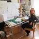 Toronto artist Kristiina Lahde in her home studio, November 2014. Photos by Bill Clarke.