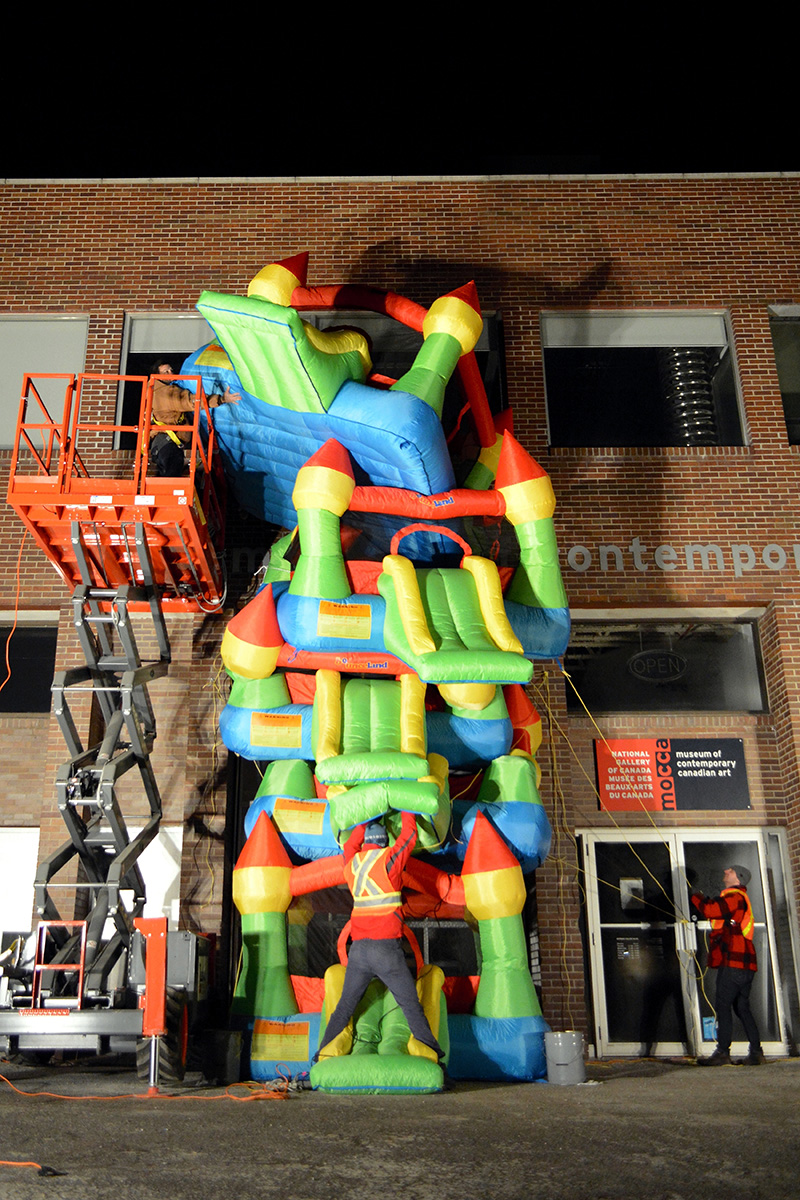 Jon Sasaki: Bouncy Highrise (2015). Performance at the Museum of Contemporary Canadian Art as part of Villa Toronto. Photo: Meghan McKnight. All images courtesy the artist and Jessica Bradley, Inc., Toronto.
