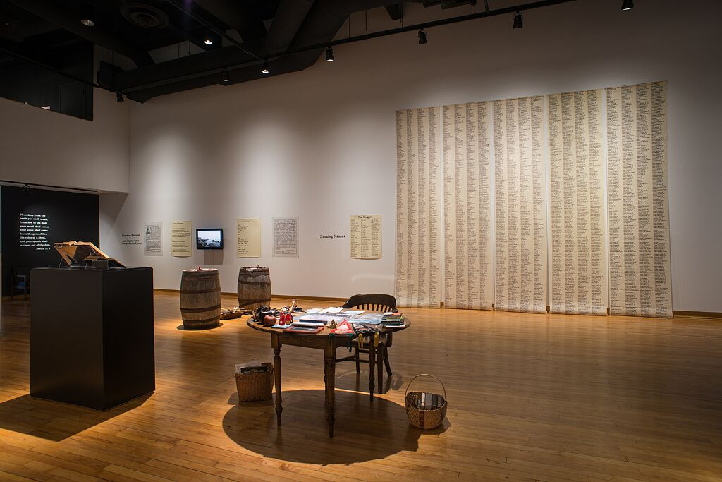 Sylvia D. Hamilton: Installation view of Mining Memory at the Thames Art Gallery. Images courtesy the artist.