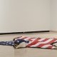 Nicholas Galanin: The American Dream is Alive and Well (2012). Installation view in The Fifth World at the Mendel Art Gallery, Saskatoon.