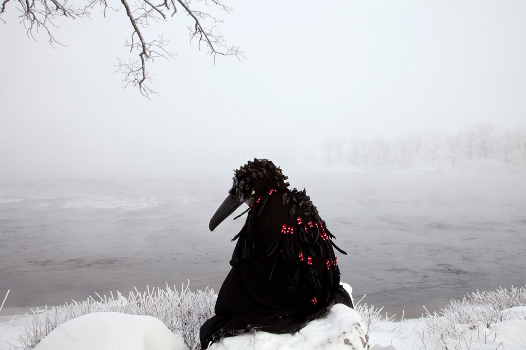 Meryl McMaster: Wingeds Call (version 1), 2015. 24 x 36 inches.