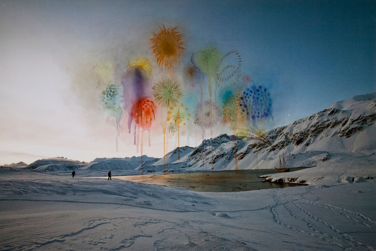 Sarah Anne Johnson:Explosions (2011), from the series Arctic Wonderland.  All images © Sarah Anne Johnson. Courtesy of Stephen Bulger Gallery, Toronto and Julie Saul Gallery, New York.