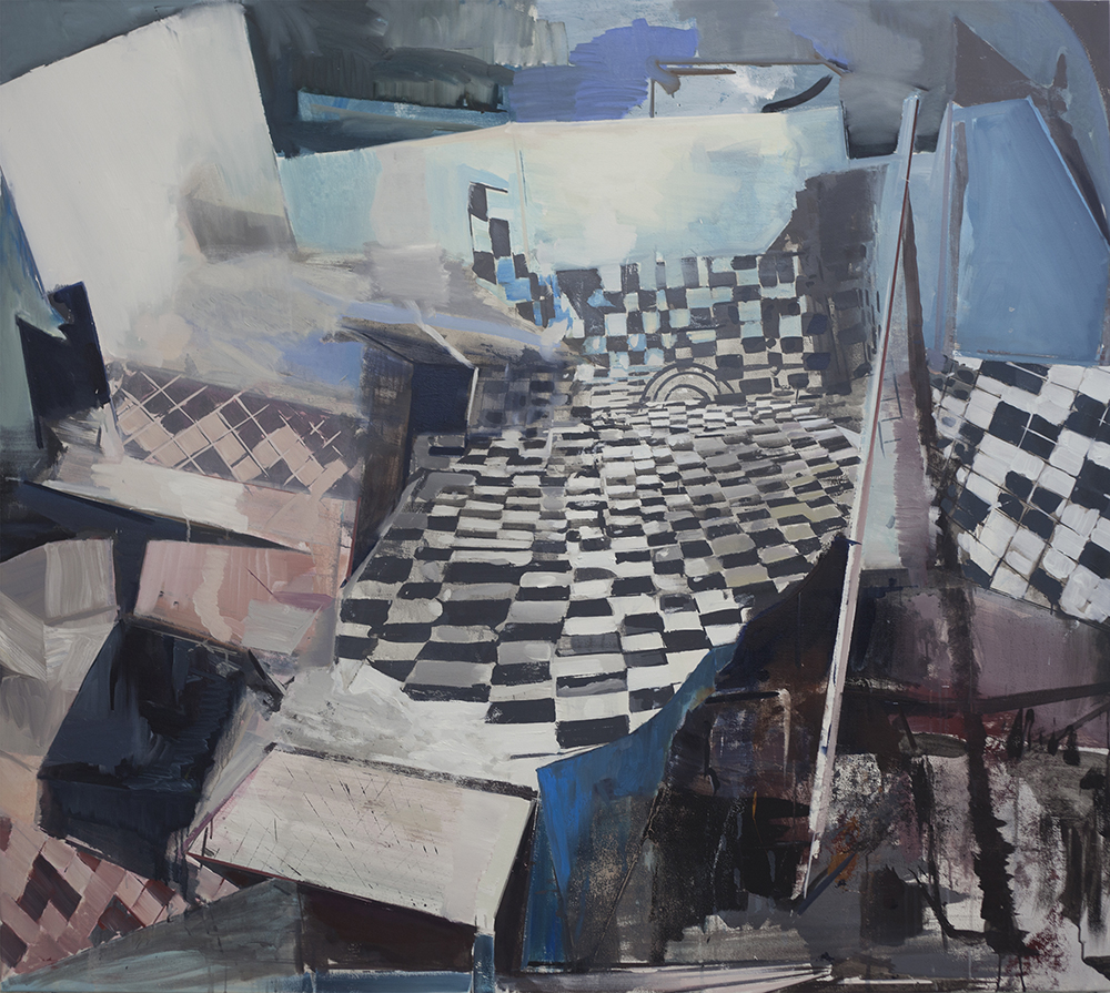 Martin Golland: Platform (2015). Oil and acrylic on canvas.