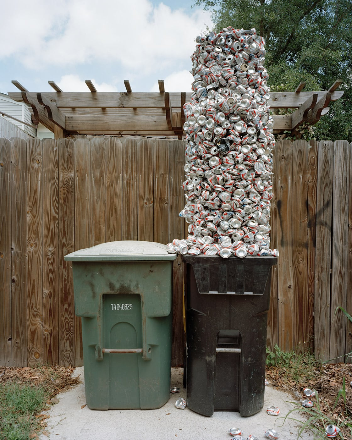 Beer Can Totem from the series Material World by David Welch (US)