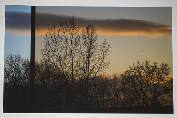Sunset in a Bus Stop by Kennedy Wheller (Etobicoke School of the Arts)