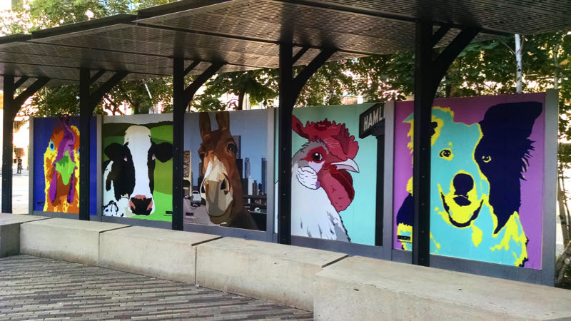 Installation photo of Farm Animals in Triangle Park