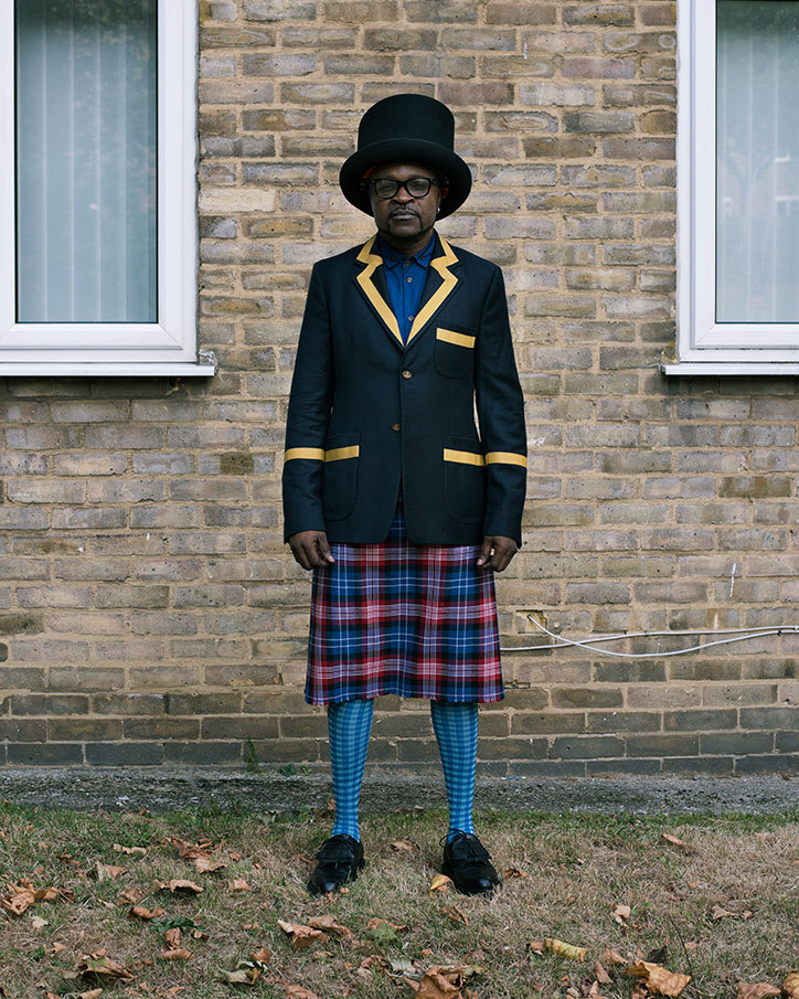 Eustache Seke in Vivienne Westwood, London (2016) by Alice Mann